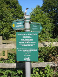 Local people are campaigning to keep the paths across the golf course open.